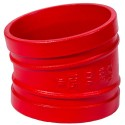 "2"" 105 Red Painted Grooved 11.25 Degree Elbow"
