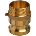 "1/2"" EcoCam Type F Brass Male Camlock Coupling (Male BSP Threaded)"