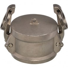 """1"""" EcoCam Type DC Stainless Steel Female Camlock Dust Cap"""