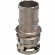 """3/4"""" EcoCam Type E Stainless Steel Male Camlock Hosetail Coupling"""