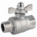 "3/8"" Genebre Art 2010 Stainless Steel Male/Female Ball Valve (Tee Handle)"