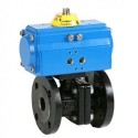 "1/2"" Genebre Art5525 Actuated PN16 Flanged Cast Iron Ball Valve (Double Acting)"