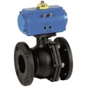 "1/2"" Genebre Art5526A Carbon Steel Actuated ANSI-150 Flanged Ball Valve (Double Acting)"
