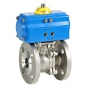 "1/2"" Genebre Art5528 Stainless Steel Actuated PN40 Flanged Ball Valve (Double Acting)"