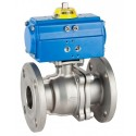 """3/4"""" Genebre Art5528A Stainless Steel Actuated ANSI-150 Flanged Ball Valve (Double Acting)"""