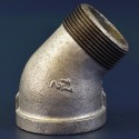 "1 1/4"" Galvanised Malleable Iron Male/Female 45° Elbow"