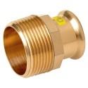 """15mm x 1/2"""" M-Press Copper Gas Male Straight Adaptor"""