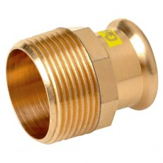 "18mm x 3/4"" M-Press Copper Gas Male Straight Adaptor"