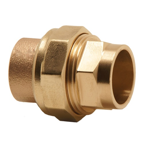 Mm copper end feed union coupling