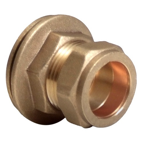 Mm brass compression tank connector